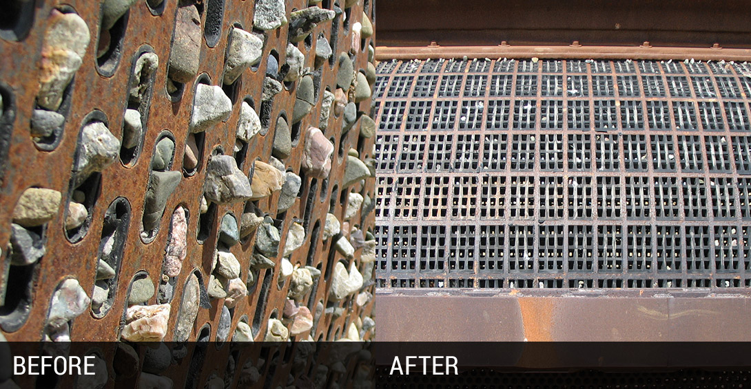 Trommel Screen Pegging Before and After