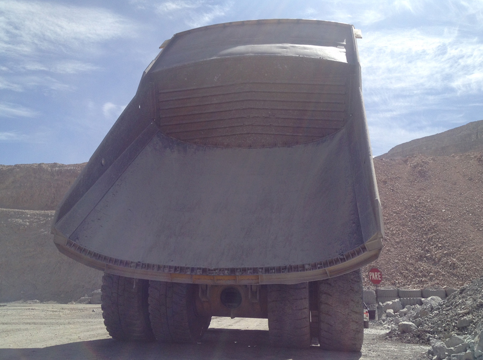 Haul Truck with Rubber Liners